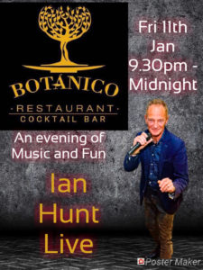 Ian Hunt at Botanico @ Pizza y Grill Botanico | Platja de l'Arenal | Valencian Community | Spain