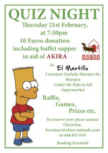 AKIRA Quiz Night & Buffet at El Martillo @ El Martillo | Moraira | Comunidad Valenciana | Spain