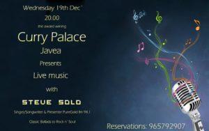 Steve Solo at Curry Palace @ Curry Palace   Jávea   Comunidad Valenciana   Spain