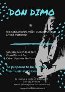 Don Dimo at Citrus Bar @ Citrus Bar | Orba | Comunidad Valenciana | Spain