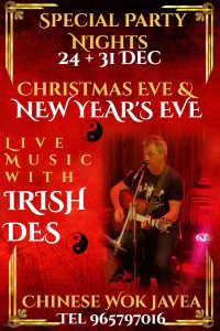 Christmas and New Year's Eve with Irish Des at The Wok Buffet @ Wok Buffet | Bahía de Jávea | Comunidad Valenciana | Spain