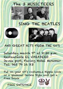 The 3 Musicteers Sing The Beatles at Varadero . @ El Varadero | Jávea | Comunidad Valenciana | Spain