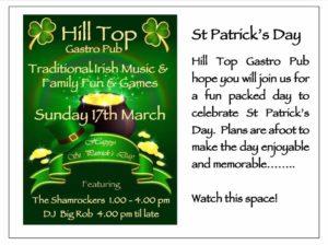 St Patrick's Day at The Hill Top Gastro Bar @ Hilltop Gastro | Teulada | Comunidad Valenciana | Spain