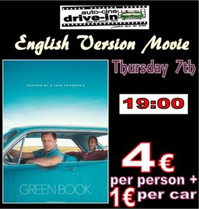 Drive In Movie In English.. GREEN BOOK @ Dénia | Comunidad Valenciana | Spain