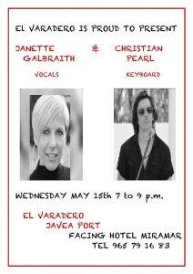 Janette Galbraith and Chritian Pearl at El Varadero . @ El Varadero | Jávea | Comunidad Valenciana | Spain