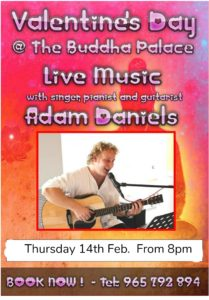 Valentine's Night with Adam Daniels at Buddha Palace @ Buddha Palace | Xàbia | Spain
