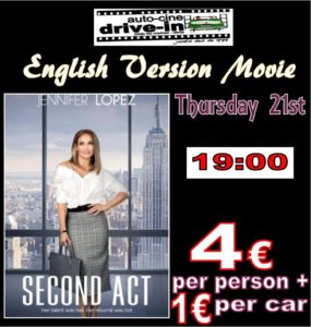 Drive In Movie In English.. SECOND ACT @ Dénia | Comunidad Valenciana | Spain