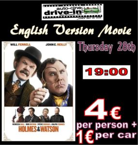 Drive In Movie In English.. Holmes and Watson @ Dénia | Comunidad Valenciana | Spain