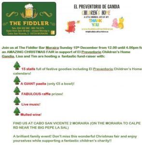 Christmas Fair at the Fiddler @ The Fiddler | Comunidad Valenciana | Spain