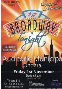 Broadway Tonight @ Auditorium Ondara | Ondara | Comunidad Valenciana | Spain
