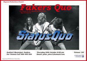 """Fakers Quo"" a great tribute to the Legendary Status Quo @ Auditorium Ondara | Ondara | Comunidad Valenciana | Spain"