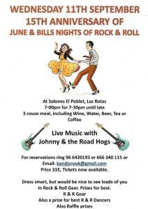 June & Bills Famous Rock & Roll Night Special Gala @ Salones   Els Poblets   Comunidad Valenciana   Spain