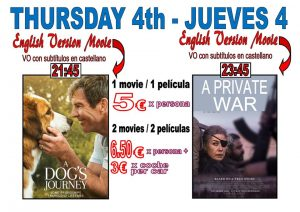 In English.. A Dog's Journey + A Private War at the Drive In Denia @ Dénia | Comunidad Valenciana | Spain