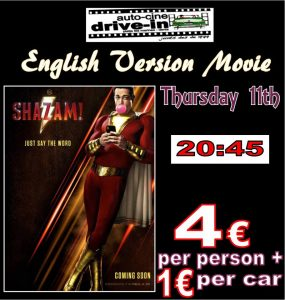 In English.. Shazam at the Drive In Denia @ Dénia   Comunidad Valenciana   Spain