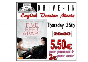 In English.. Five Feet Apart at the Drive In Denia @ Dénia | Comunidad Valenciana | Spain