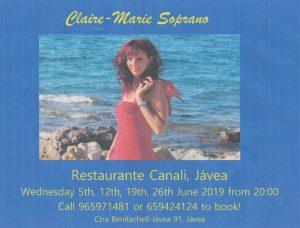 Claire Marie Soprano at Rte. Canali @ Rte. Canali | Xàbia | Comunidad Valenciana | Spain