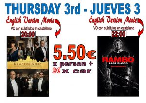 In English.. Downton Abbey followed by Rambo  at the Drive In Denia @ Dénia | Comunidad Valenciana | Spain