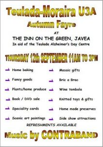 AUTUMN FAYRE - In aid of Teulada Alzheimers Day Centre @ Inn on The Green | Xàbia | Comunidad Valenciana | Spain