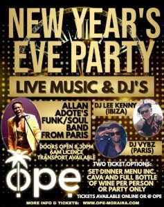 New Years Eve at OPE Moraira @ Ope | Teulada | Comunidad Valenciana | Spain