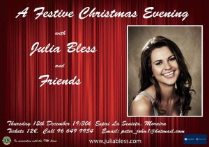 Evening with Julia Bless and Friends: @ La Senieta | Moraira | Comunidad Valenciana | Spain