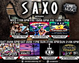 Sax on Fire at Saxo Gardens @ Saxo Disco Garden Chill Out | Moraira | Comunidad Valenciana | Spain