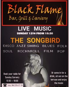 Songbird at Black Flame, Pedreguer @ Monroe's Carvery | Comunidad Valenciana | Spain