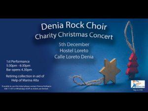 Denia Rock Choir Christmas Concert @ Hotel Loreto | Dénia | Comunidad Valenciana | Spain