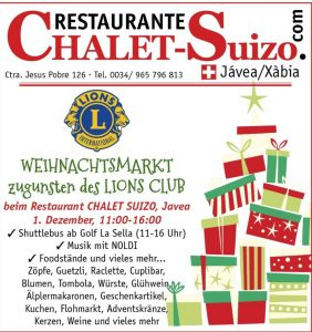 Lions Club Christmas Fair @ Chalet Suizo | Xàbia | Comunidad Valenciana | Spain