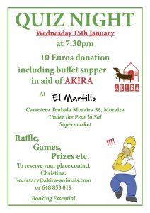 AKIRA Quiz Night & Buffet at El Martillo @ El Martillo | Moraira | Comunidad Valenciana | Spain
