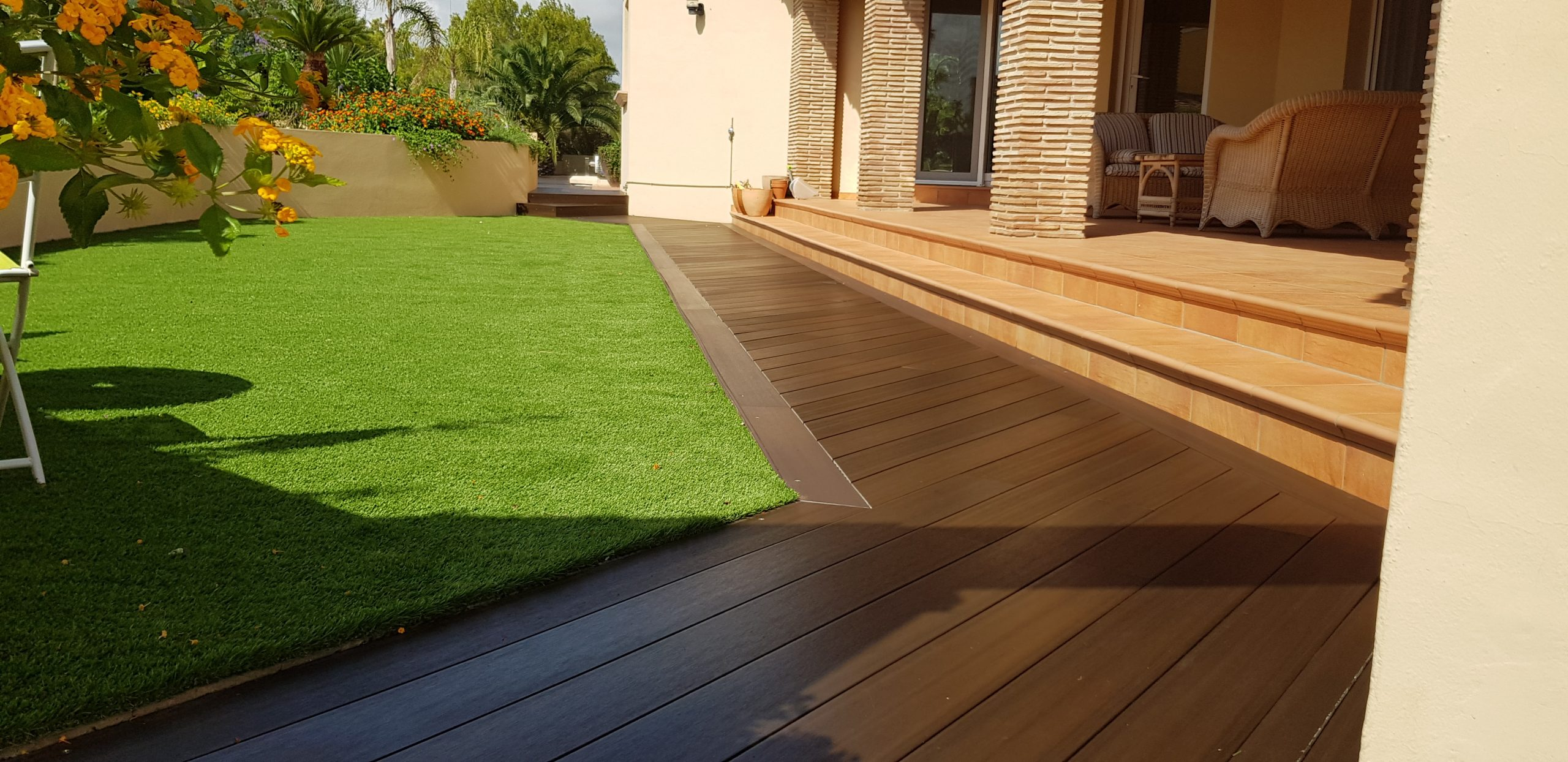 Treated Wooden decking
