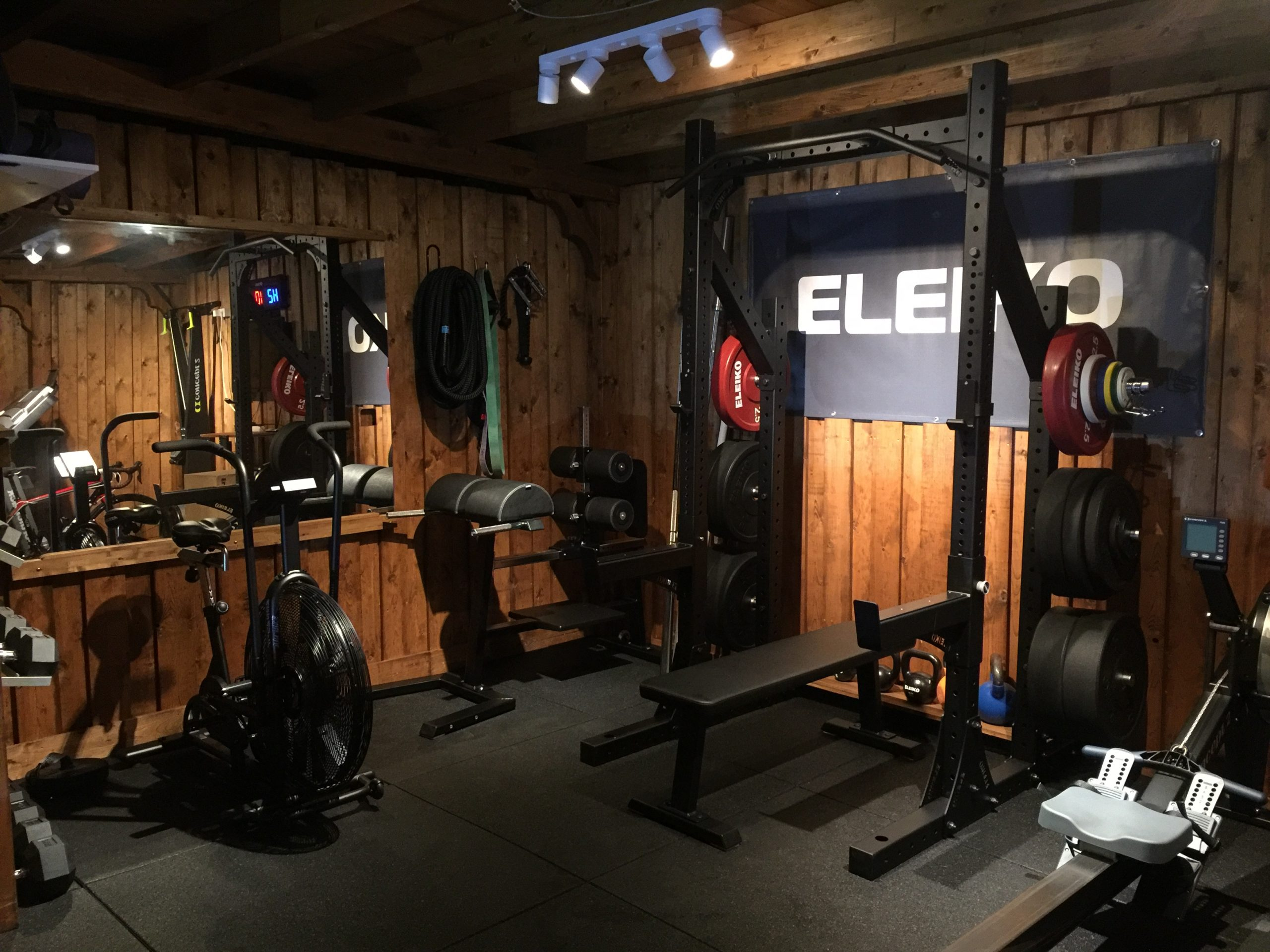 Indoor commercial gym