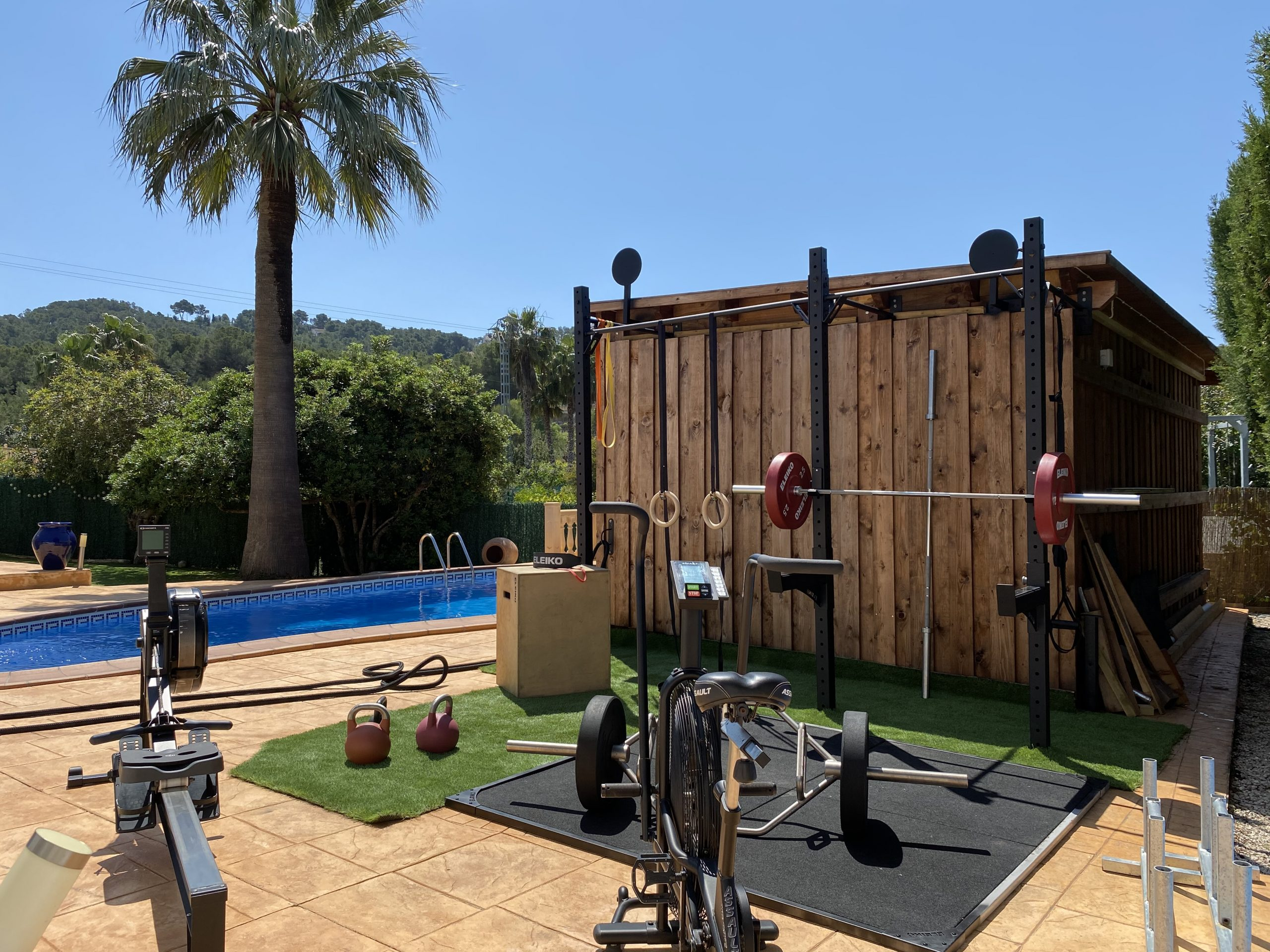 Outdoor gym area