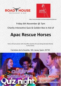 Apac Charity Quiz at the Roadhouse @ The Road House | Costa Nova | Comunidad Valenciana | Spain