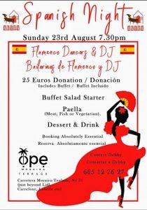 Spanish Night at OPE Moraira @ Ope | Teulada | Comunidad Valenciana | Spain
