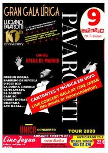 Pavarotti Concert Live Transmission at Cine Jayan @ Cine Jayan | Jávea | Comunidad Valenciana | Spain