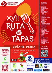 Denia Tapas Route – From 29th October to 22nd November @ See Posters Below | Dénia | Valencian Community | Spain