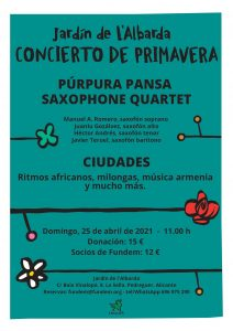 Spring Concert at l'Albarda Gardens @ L'Albarda Gardens | Muntanya de la Sella | Comunidad Valenciana | Spain