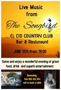 Songbird at El Cid Benidoleig @ El Cid Bar & Restaurant | Ondara | Comunidad Valenciana | Spain