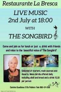 Songbird at La Bresca, Els Poblets @ La Bresca | Comunidad Valenciana | Spain