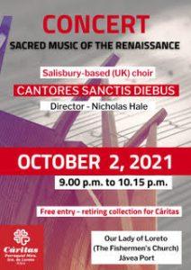 Charity Concert in Aid of Caritas @ Our Lady of Loreto Church | Jávea | Comunidad Valenciana | Spain